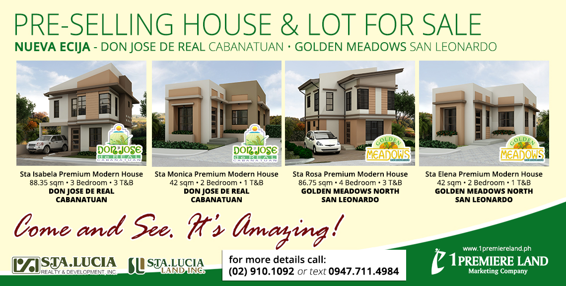 Pre-selling house and lot in Don Jose De Real and Golden Meadows North